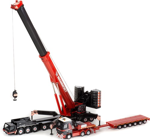 Mammoet LTM 1750 + Truck with semilowloader