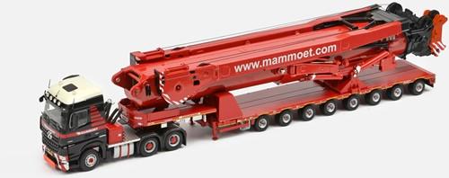 Mammoet MB Arocs 6x4 + 8 Axle Semi lowloader + 11200 saddles