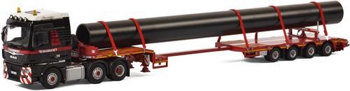 Mammoet MAN TGX XXL 6x2 + 4 axle low loader + pipe
