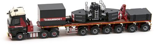 Mammoet MB Arocs 6x4 + 6 axle ballast trailer + crane