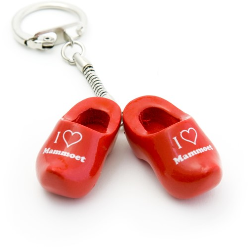 Keychain wooden shoes