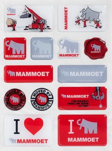 Mammoet 3D stickers