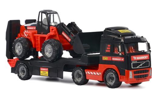 Mammoet Volvo vrachtwagen met graafmachine