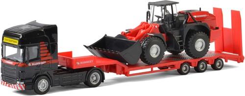 Mammoet Vrachtwagen met Graafmachine