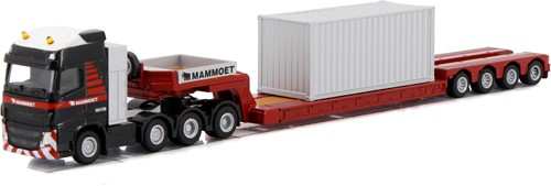 Mammoet volvo FH4 glob XL 8x4 with low loader 4 axle + container